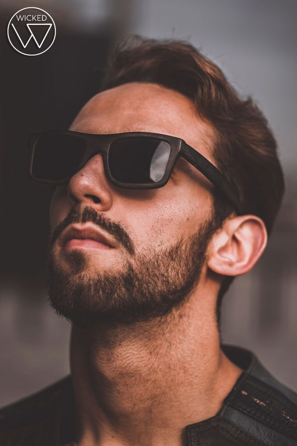 Sonnenbrille aus Holz - Wicked Ares